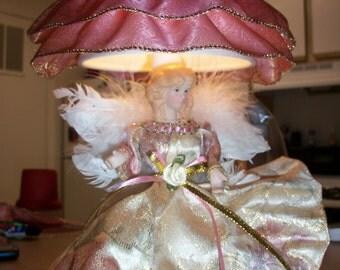 Victorian Style Angel Tabletop Nightlight