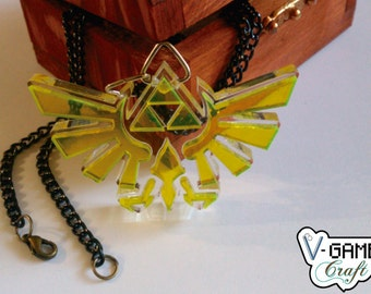 Hyrule Royal Crest necklace based on The Legend of Zelda