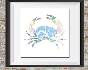 Crab Poster- Abstract Print