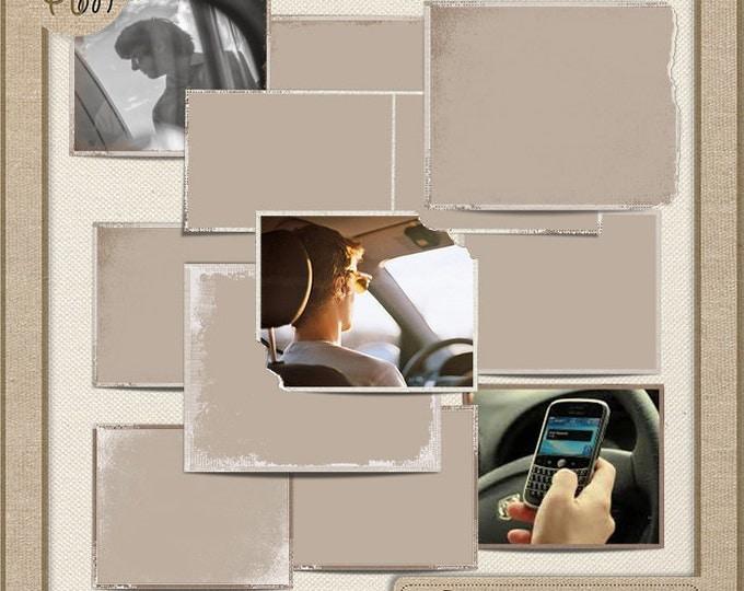 Frames - Digital scrapbook frames. Photo Book. Photo album. Vol.37