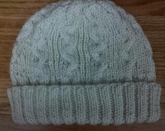 Cables Folding Rib Unisex Knitting Hat