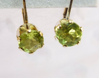 Genuine Peridot LeverBack Earrings
