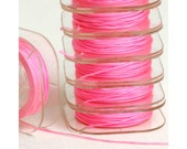 NEON PINK - Nylon Knotting Cord - 10 yards - 0.5mm 0.8mm 1mm