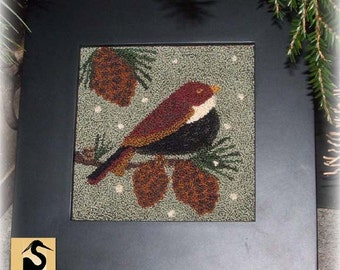 Winter Songbird Punchneedle Pattern Needle Punch