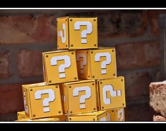 INSTANT DOWNLOAD Digital Question Mark Box plus BONUS Brick Block box  Super Mario Inspired Folded Party Favor Box