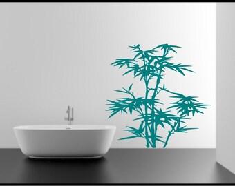 Bamboo stencil etsy for Stencil per piastrelle bagno