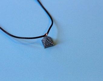 3D Zinc Alloy Pyramid Necklace