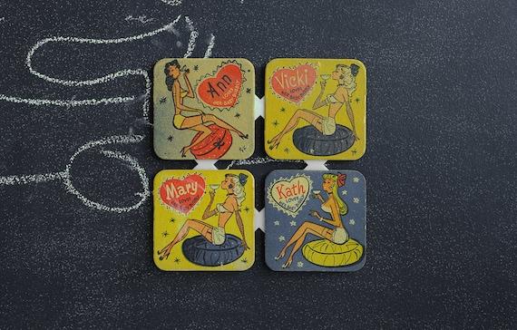 Vintage Barware Coasters