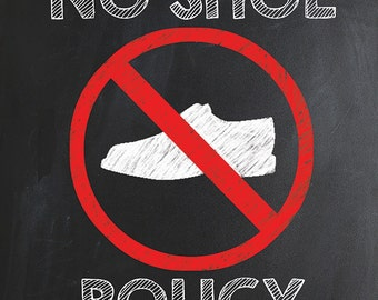 Challenger image pertaining to no shoes sign printable