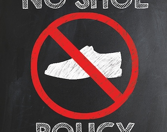 Priceless image for no shoes sign printable