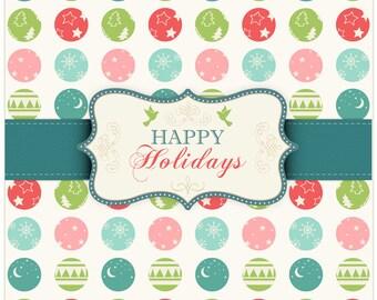 Retro Happy Holidays PSD Background