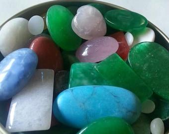 Mixed Lot Natural Gemstone Cabochons
