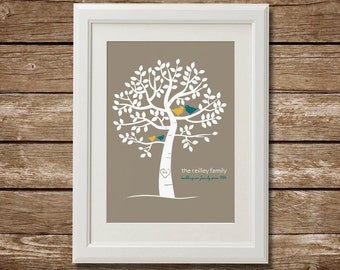 Digital Download, Printable, Personalized Family Tree, Custom Family Tree Personalized Art, Personalized Gift