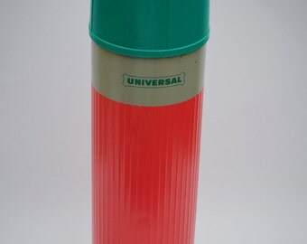 Universal thermos [melon pink/green] : VINTAGE