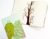 Writing Notebook Journal Notebook Owl Notebook - Writing Book Journal Lined Journal - gift for teen gift ideas