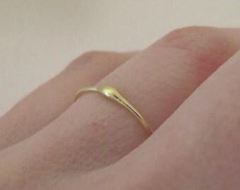 22k Gold Stacking Ring - Rain