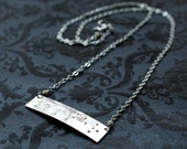 Personalized  Horizontal Custom Braille Necklace in 14k GF or Sterling Silver