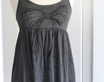 Black Bow Gauze dress Top