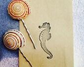 Two Shell Hair Pins / Beach Hair / Beach Living / bath and Beauty / Friends and Family / Beach Wedding