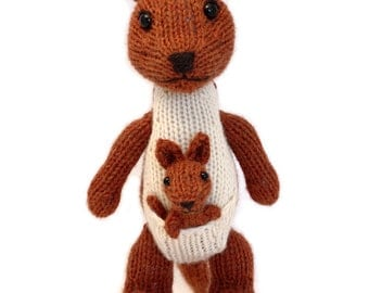 Kangaroo and Joey Knitting Pattern
