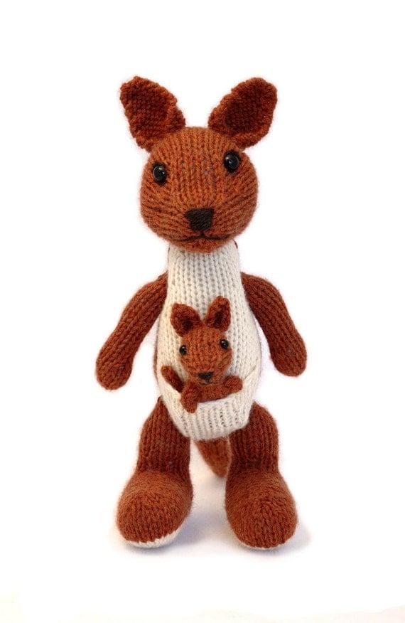 Kangaroo Knitting Pattern : Kangaroo and Joey Knitting Pattern