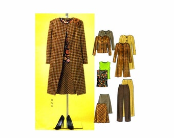 Womens Lined Jackets Bias Top Pants Skirt McCalls 4603 Sewing Pattern Misses Size 12 - 14 - 16 - 18 Bust 34 - 36 - 38 - 40 UNCUT