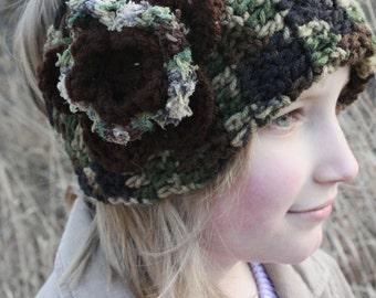 Large Flower Earwarmers / Headband