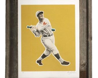 Mel Ott Limited Edition Baseball Screen Print - New York Giants