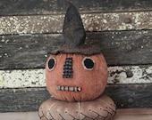 Primitive Halloween Pumpkin Guy Pincushion Digital PDF Pattern