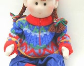 DIY cloth doll - Life size doll pattern - toddler doll sewing PDF - 24 inch life size wears real baby clothes - PDF pattern