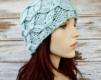 Instant Download Knitting Pattern - Mens Beanie Pattern - Knit Hat Pattern - Beatrix Beanie - Womens Hat Pattern- Womens Accessories