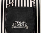 Pouch Spare Pocket Embroidery Humerus Bone Goth Halloween