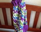 Market Bag in Purple, Apple Green, Turquoise, White;  Backpack, Tote, Bookbag, Carry-all, Ecofriendly
