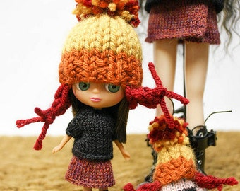 Petite Blythe doll Cunning Jayne Cobb Hat knitting PATTERN - instant download - permission to sell finished items