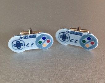 super nes controller cufflinks