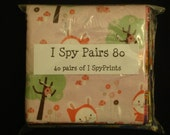 """DIY I Spy Matching Pairs Game Quilt Kit-- 80 pieces of 5"""" squares"""