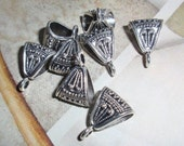 Bail,Jewelry bails,Bali Style Bails,Silver--6, WHOLESALE