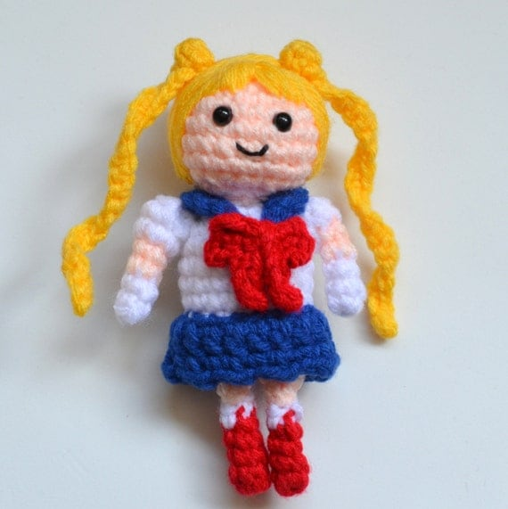 Amigurumi Moon Pattern : Sailor Moon Amigurumi Crochet PDF Pattern by PopsDeMilk on ...