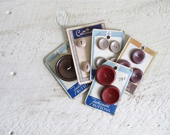 Vintage Buttons on Original Cards