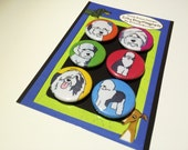 Old English Sheepdog Silly Dog Magnet Set