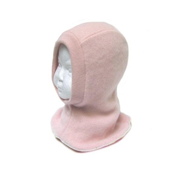 chapeau de cagoule b b cachemire rose pour b b fille 17 19. Black Bedroom Furniture Sets. Home Design Ideas