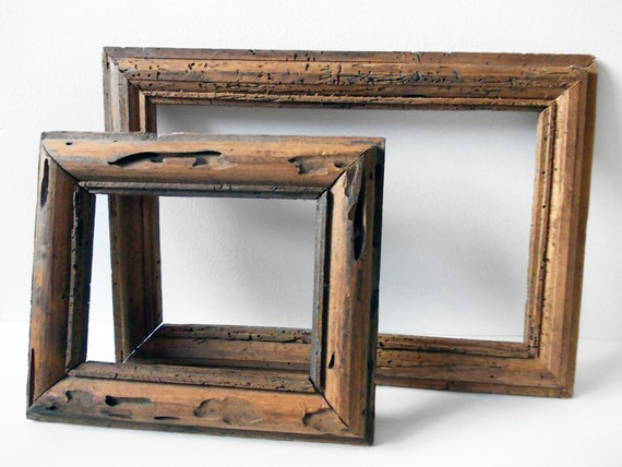 Rustic Wood Picture Frames Mexican Wormwood Vintage