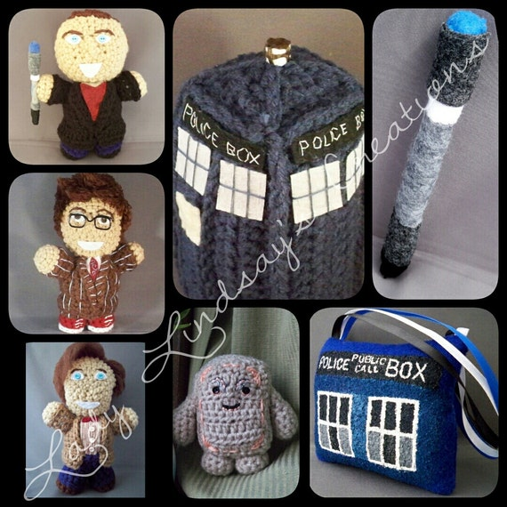 Doctor Who amigurumi, plush, and soft toy SET