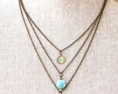 Serena. Bohemian layered charm necklace. Tiedupmemories