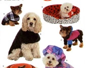 Cat or Dog bed dog coat with or without hat or hood sewing pattern McCalls 8928 All sizes pet bed pattern