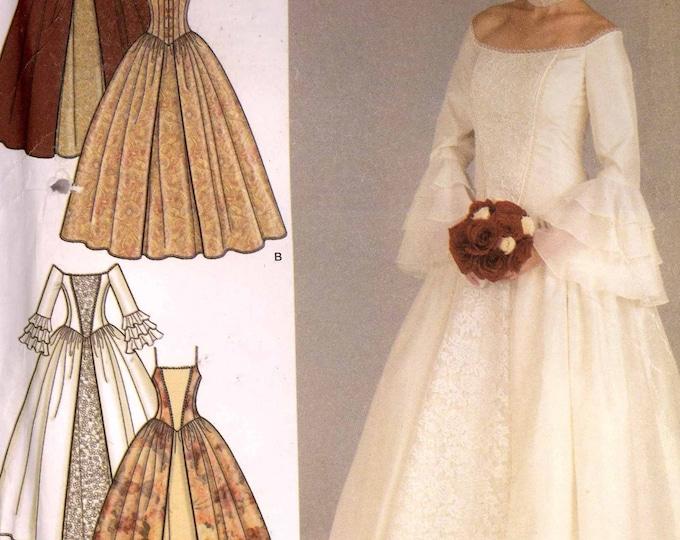 Gorgeous wedding dress Sewing pattern Renaissance style Costume gown Simplicity 4731 Sz 12 to 20 Uncut