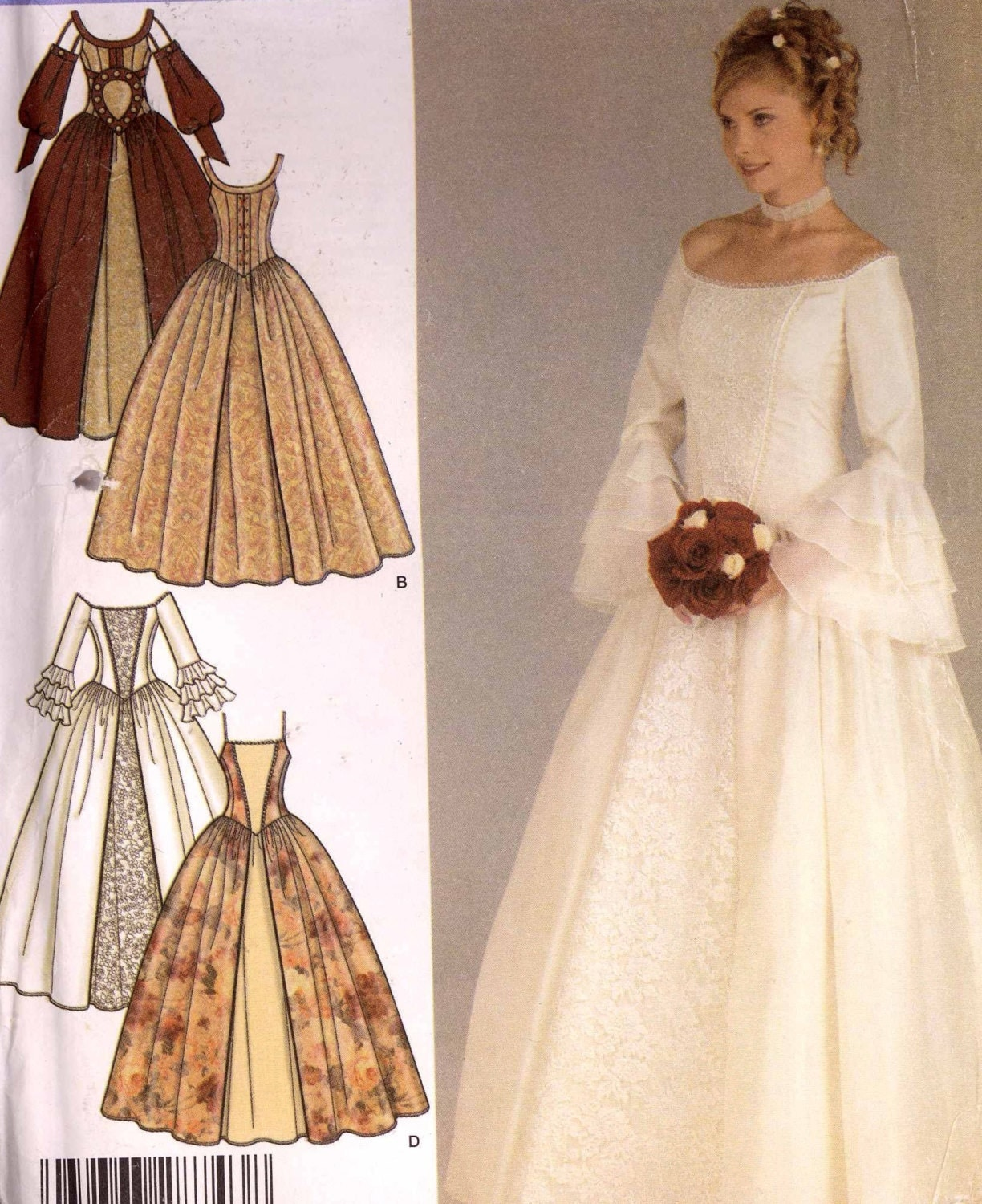 Renaissance Bridal Gown Sewing Pattern Princess Dress: Gorgeous Wedding Dress Sewing Pattern Renaissance Style