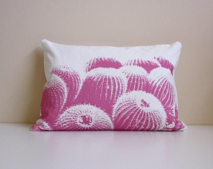 LAST CHANCE SALE - Barrel Cactus Pillow   - Pink - White - Southwest - Cactus - Sand - Modern - Nursery
