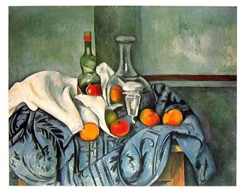 French Impressionist Art - Paul Cezanne - Still Life - 1977 Large Poster Sized Print 12 x 15
