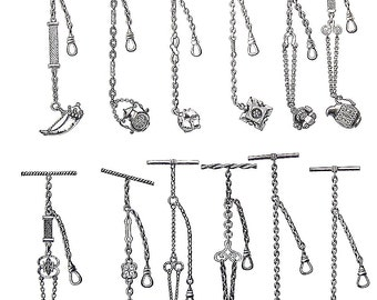 Victorian Chains - 1968 Vintage Book Print - Victorian Americana Black and White 2 Sided Page
